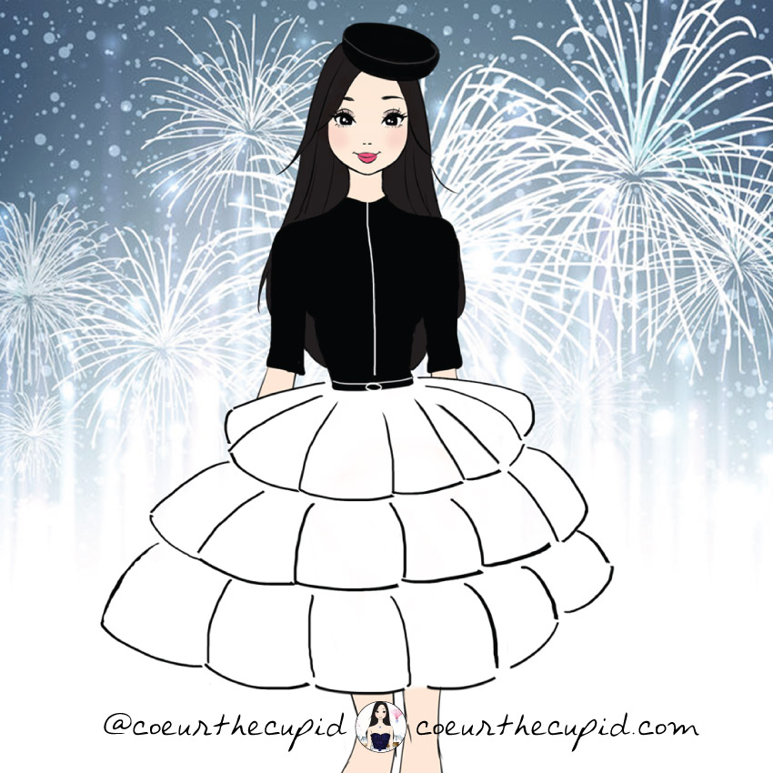 Happy New Year Poofy Skirt
